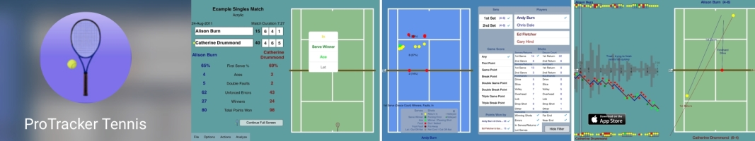 ProTracker Tennis - Software for Match Charting, Stats and